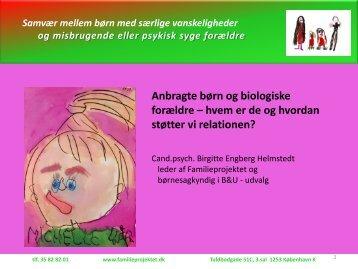 Slides fra Birgitte Engberg Helmstedts oplæg
