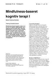 Mindfulness-baseret kognitiv terapi I - KognitivGruppen