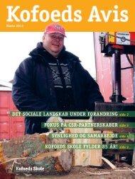 DET SOCIALE LANDSKAB UNDER FORANDRING ... - Kofoeds Skole