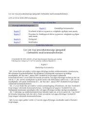 Lov om visse proceduremæssige spørgsmål i forbindelse ... - CFU
