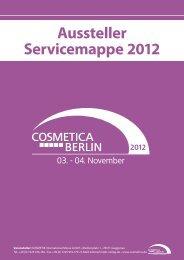 Aussteller-Servicemappe COSMETICA Berlin 2012