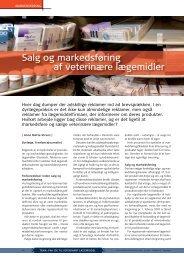 Salg og markedsføring af veterinære lægemidler - Elbo