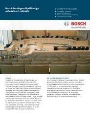 Bosch løsninger til pålidelige optagelser i retssale - Bosch Security ...