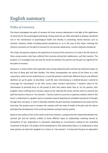 English summary - PS Landsforening