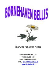 ÅRSPLAN FOR 2009 / 2010 - Bellis