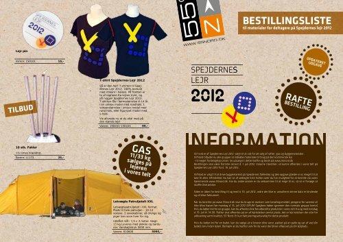 BESTILLINGSLISTE GAS - Spejdernes Lejr 2012