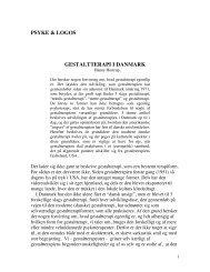 PSYKE & LOGOS GESTALTTERAPI I DANMARK