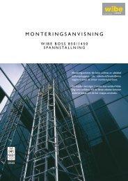 MONTERINGSANVISNING - Wibe Ladders