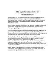 Mål- og indholdsbeskrivelse - Skoleporten Mejrup Skole