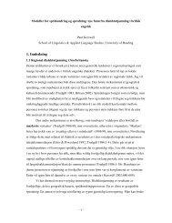1. Innledning - Linguistics and English Language