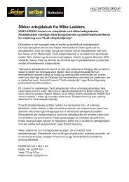 Pressemeddelelse (pdf) - Wibe Ladders