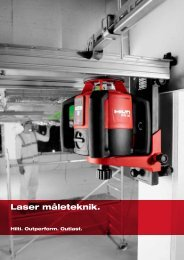 Laser måleteknik. - Hilti Danmark A/S