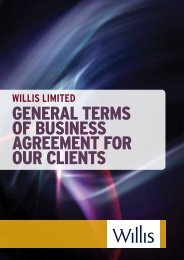 General Terms of Business Agreement for Our Clients - RH Insurance