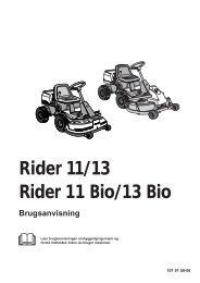OM, Rider 11, Rider 11 Bio, Rider 13, Rider 13 Bio ... - Husqvarna