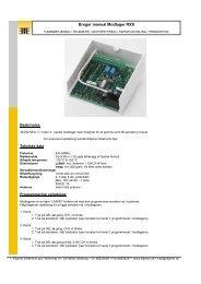 Page 1 of 3 Bruger manual Modtager RXS - Eltjener Elektronik ApS