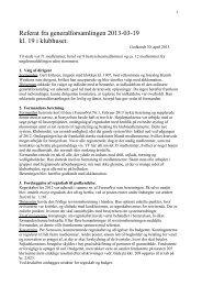 Referat fra generalforsamlingen - Yachtklubben Furesøen