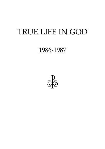Volume 1 1986-1987 - True Life In God