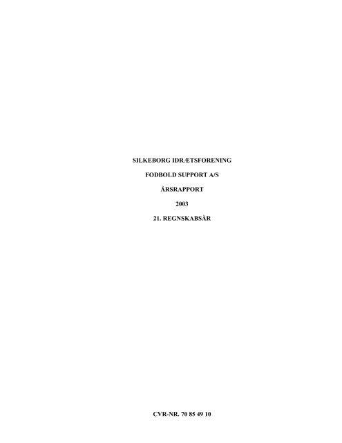 Årsrapport 2003 - Silkeborg IF