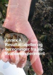 Annex A Resultattabeller og beregninger fra åle ... - Naturstyrelsen