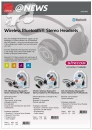Wireless Bluetooth® Stereo Headsets - Aurora Group