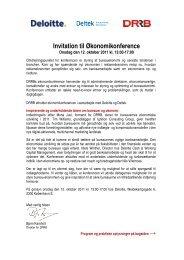 Invitation til Økonomikonference - Danish Design Association
