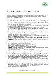 Sikkerhedshenvisninger ved elektro-kuglegrill - Outdoorchef.com