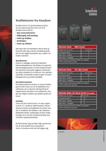 Brochure: Knudsen ovnen