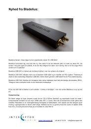 Nyhed fra Bladelius: - Interceptor Audio