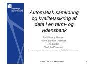 Automatisk samkøring og kvalitetssikring af data i en term- og ...