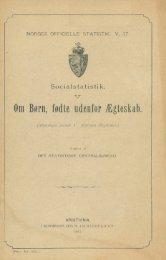 Socialstatistik, V, Om Børn, fødte udenfor Ægteskab.