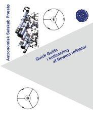 Astronomisk Selskab Præstø Quick Guide i kollimering af Newton ...
