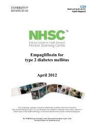 Empagliflozin for type 2 diabetes mellitus - National Horizon ...