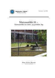 Matematikk 01 - - Ansatt.hig.no - Høgskolen i Gjøvik