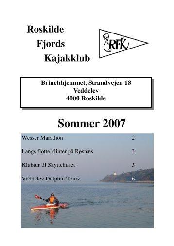Klubblad sommer 2007 fin. pub - Roskilde Kajakklub