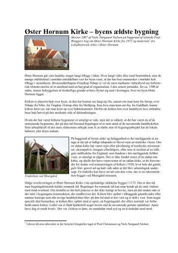 Øster Hornum Kirke – byens ældste bygning - Øster Hornum Portalen