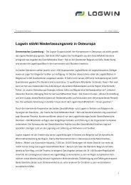 Logwin stärkt Niederlassungsnetz in Osteuropa