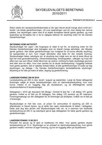 Skydeudvalgets beretning - De Danske Garderforeninger