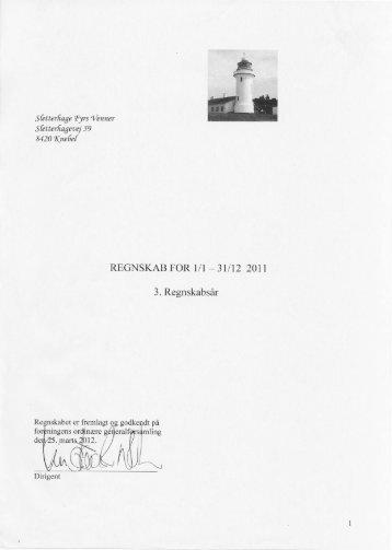 Regnskab 2011 - Sletterhage Fyr