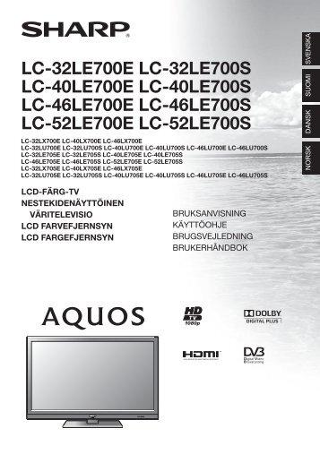 LC-32/40/46/52LE/LX/LU700E/S/705E/S Operation-Manual ... - Sharp