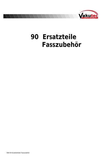 90 Ersatzteile Fasszubehör - Vakutec