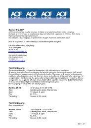 Kurser fra AOF - Sygehus Vendsyssel