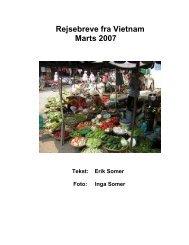 Rejsebreve fra Vietnam Marts 2007 - Erik Somer
