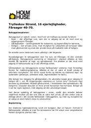 Trylleskov Strand, 16 ejerlejligheder, Fåreager 40-70. - Holm Huse