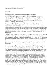 bestyrelsens beretning til generalforsamlingen 2011 - Velkommen til ...