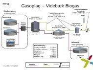 Flowdiagram for Videbæk Biogas A/S' påskrevet oplag af ... - Arla.com
