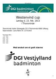 Westenvind cup - Lemvig Badminton Klub