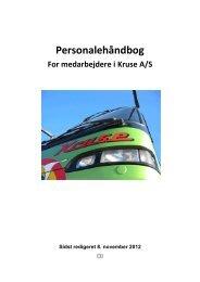 Personale håndbog ( Alle Afdelinger ) - Kruse-roskilde chauffør