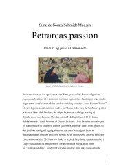 Petrarcas passion. Idolatri og pieta i Canzoniere.