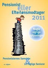 108944 Pensionist hæfte 2011.indd - Pensionisternes Samvirke