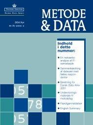 Metode & Data 87 B - DDA Samfund - Dansk Data Arkiv